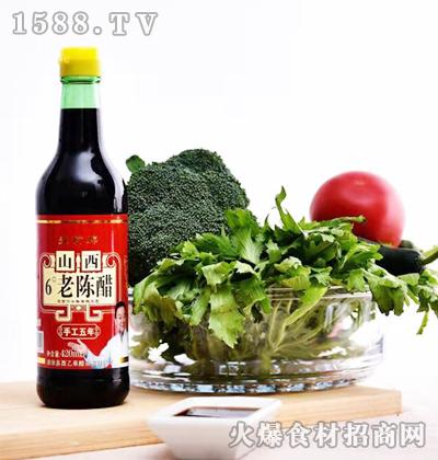 晋一香山西6度老陈醋(手工五年)420ml