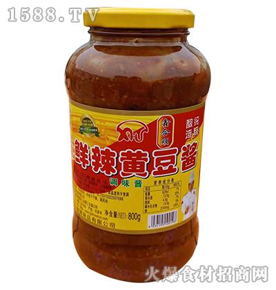 鑫和顺鲜辣黄豆酱调味酱800g