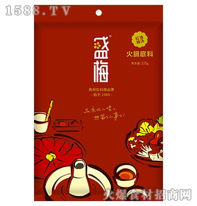 盛梅红油辣汤火锅底料215g