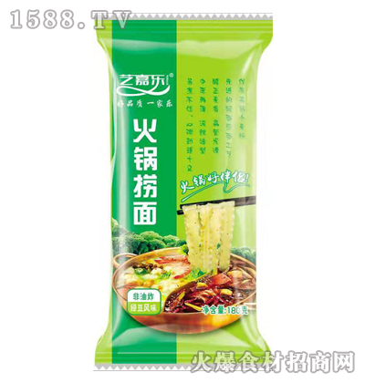 艺嘉乐绿豆风味火锅捞面180克