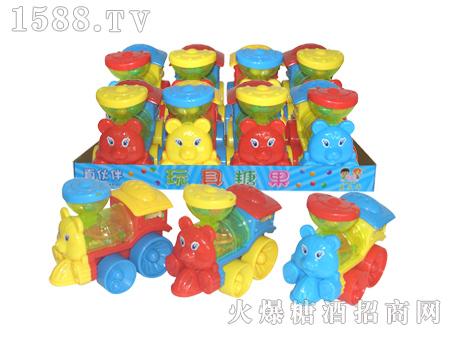 拉线灯光动物火车头玩具糖果|汕头市新伙伴食品有限