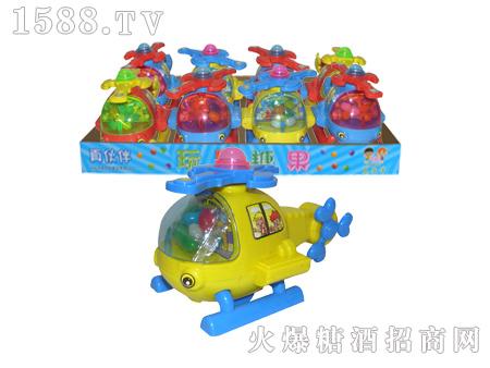 拉线卡通飞机玩具糖果