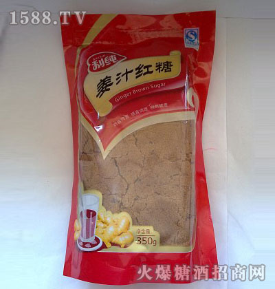 产品名字:宝利姜汁红糖自立袋350g