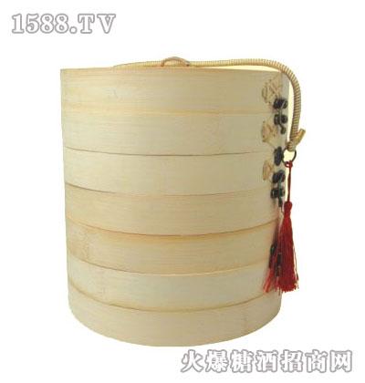 蒸蒸日上竹笼礼盒