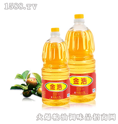 金浩茶油1.7L茶籽调和油