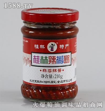 王致和210克蒜蓉辣椒酱