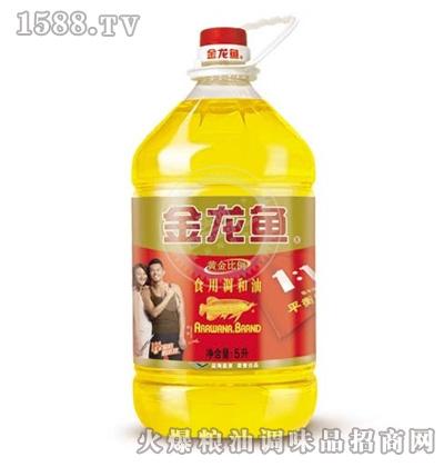 金龙鱼黄金比例食用调和油(桶装5L)
