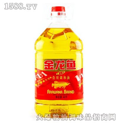 金龙鱼黄金比例食用调和油(桶装4L)