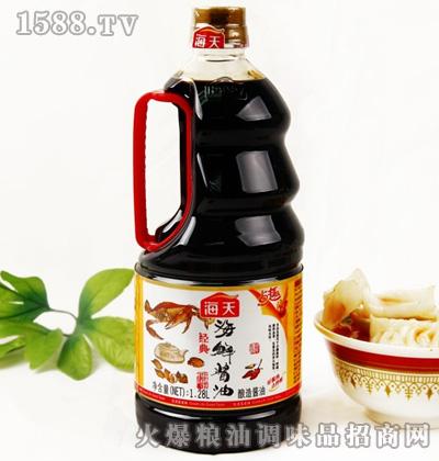 海天海鲜酱油1.28L桶