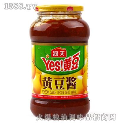 海天黄豆酱800g瓶