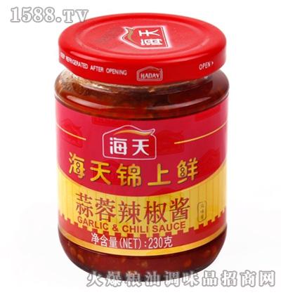 海天锦上鲜蒜蓉辣酱230g瓶