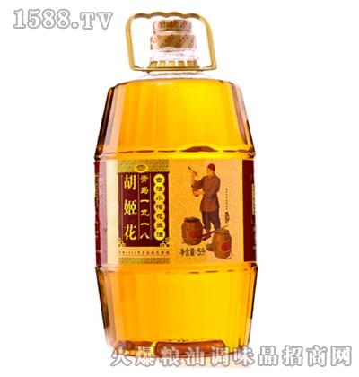 胡姬花古法小榨花生油5L桶