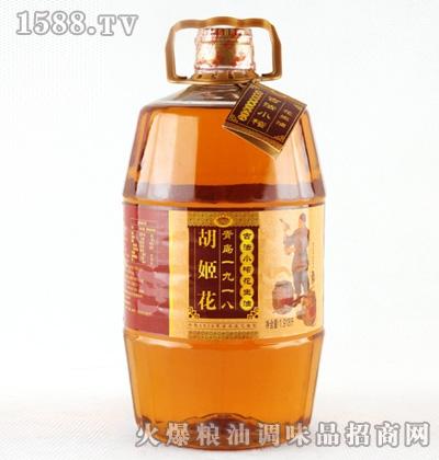 胡姬花古法小榨花生油1.918L桶
