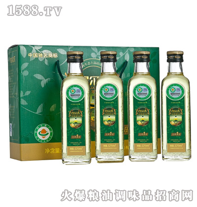 得尔乐有机油茶籽油325mlx4礼盒装