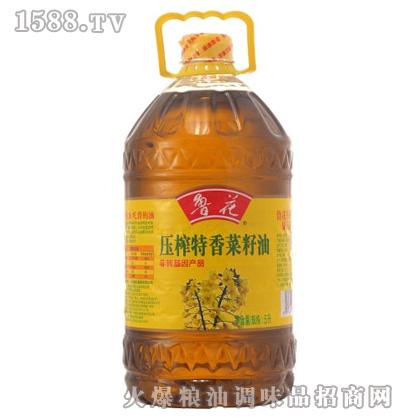鲁花非转基因压榨特香菜籽油5L