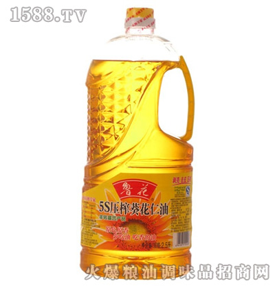 鲁花5S压榨葵花仁油2.5L
