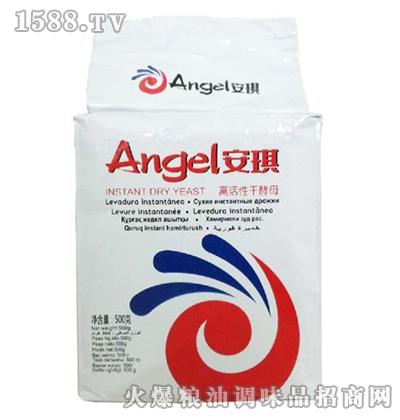 安琪低糖高活性干酵母(白色装)500克