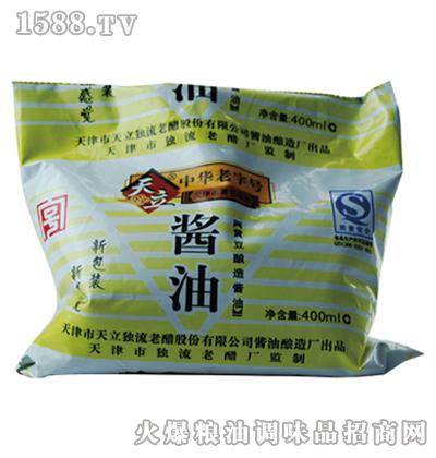 天立袋酱油400ml