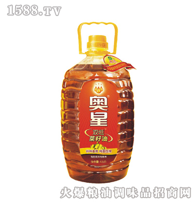 奥星 4.5L纯香菜籽油