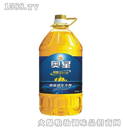 特级纯生冷榨菜籽油5L