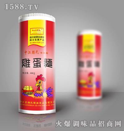 中江颜氏鸡蛋面(红过塑)800g