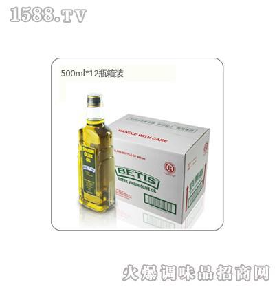 贝蒂斯特级初榨橄榄油箱装(500mL*12瓶)