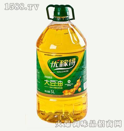 优稼得一级大豆油5L
