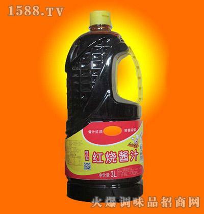 海全红烧酱汁3L