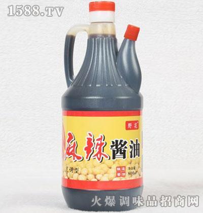 野花麻辣酱油800ml