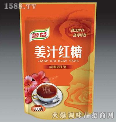 鲁益姜汁红糖300克