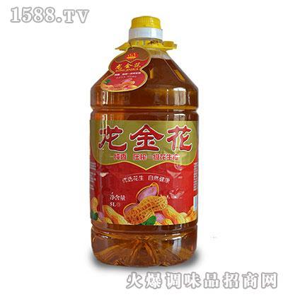 龙金花纯香一级压榨花生油5L