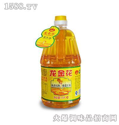 龙金花纯香一级压榨花生油1.8L
