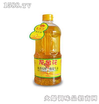龙金花纯香一级压榨花生油1L