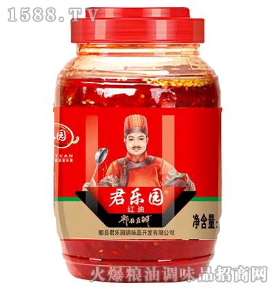 红油郫县豆瓣酱500克-君乐园