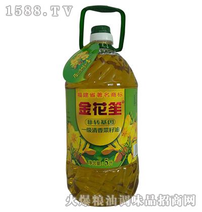 一级清香菜籽油5L-金花笙