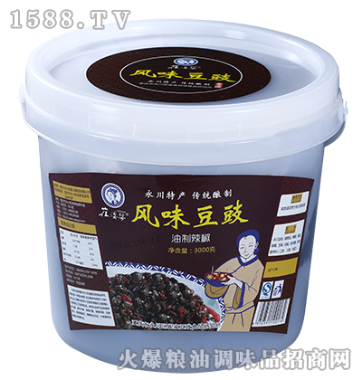 风味豆豉调料桶装3000克-崔婆婆