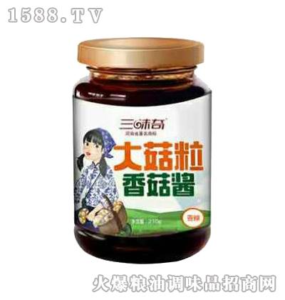 大菇粒香辣香菇酱210g-三味奇