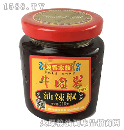牛肉酱油辣椒210g-顶香