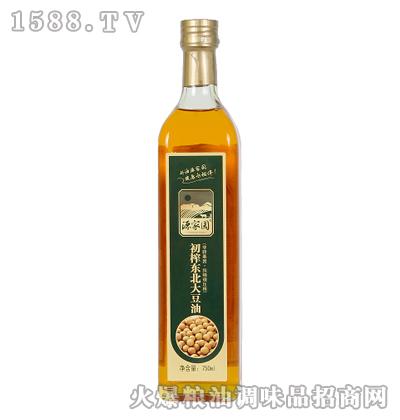 初榨东北大豆油750ml-源家园
