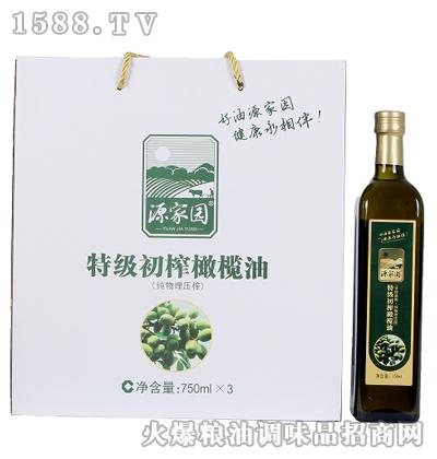 特级初榨橄榄油750mlX3瓶-源家园