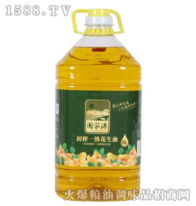 初榨一级花生油5L-源家园