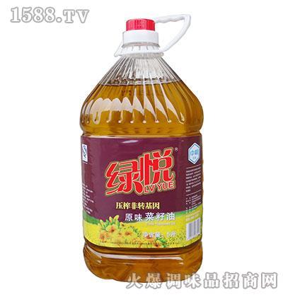 绿悦压榨非转基因原味菜籽油5升