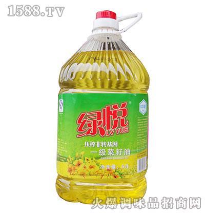 绿悦压榨非转基因一级菜籽油5升