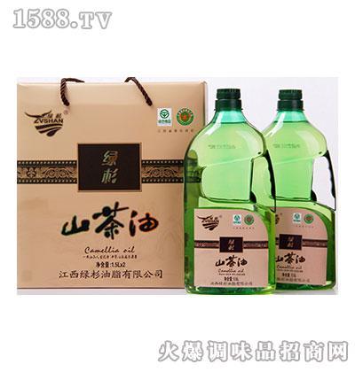 绿杉山茶油礼盒1.5L
