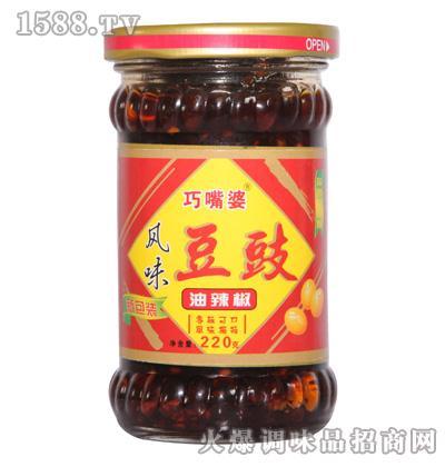 巧嘴婆风味豆豉油辣椒220g