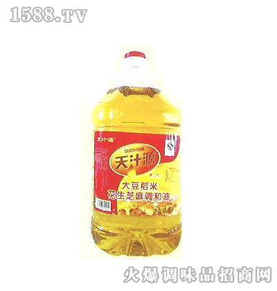 华源大豆稻米花生芝麻调和油5L