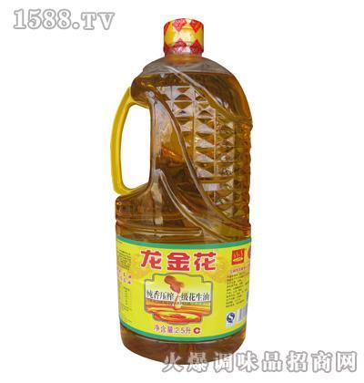 龙金花纯香压榨一级花生油2.5L