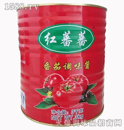 红番番番茄调味酱3千克-红蕃蕃