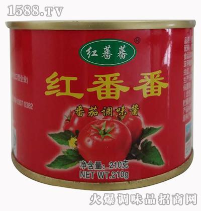 红番番番茄调味酱210克-红蕃蕃