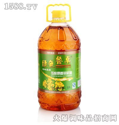 压榨原香菜籽油5L-绿色餐桌